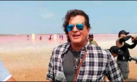 Carlos Vives durante el rodaje del video.
