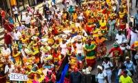 Marcha de palenqueras y demás vendedores en Cartagena para exigir derecho al trabajo
