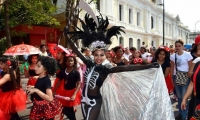Cerca de 40 colegios de Santa Marta participaron en el desfile de Carnaval.