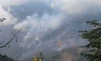 Incendio en la Reserva El Dorado.