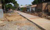 La pavimentación de la calle 12 en el barrio Pueblo Nuevo de El Banco, hace parte del proyecto aprobado en un Ocad municipal.