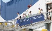 Llegada de turistas al Puerto de Santa Marta.
