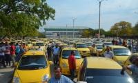 Caravana de taxistas de la ciudad