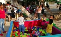 Los niños de Pescaíto disfrutaron de juegos durante la jornada.