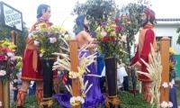 Uno de los pasos que engalanan las calles de Guamal durante la procesión de este Jueves Santo.