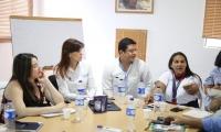 La reunión se llevó a cabo en la Casa de Asuntos Indígenas en la capital del Departamento.