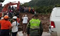 Deslizamiento en Rosas, departamento de Cauca