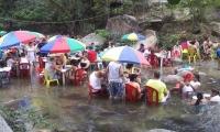 Balneario en el río Gaira en el corregimiento de Minca.