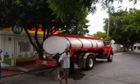 Suministro de agua en carrotanques en Santa Marta.