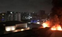 Incendio en el C.C. Buenavista 2 de Barranquilla.