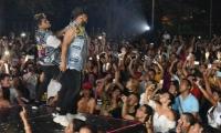 La agrupación vallenata KVRASS puso a bailar a todo el público con su música.