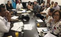 Cuatro horas duró la reunión de la junta directiva de la Essmar.