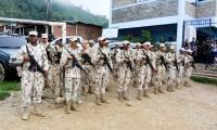 El pelotón del Batallón de Alta Montaña realizará recorridos permanentes por la zona.