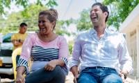 Luis Miguel Cotes visitó los barrios de La Paz y Altos de Aeromar