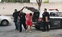Momento de la captura del sospechoso.