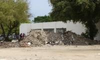 Fotos del antes de la jornada de limpieza en la zona del Estadio Eduardo Santos