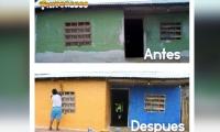 El programa benefició a 36 casas.