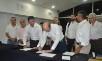 Firma del convenio entre la Alcaldía de Santa Marta y la Agencia Nacional de Contratación Pública a través de la plataforma pública 'Colombia Compra Eficiente'