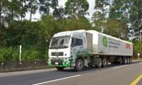 Camión a gas natural.