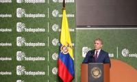 Después de seis años un Presidente de Colombia participa en un congreso naional de palma de aceite.