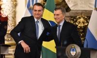 Jair Bolsonaro, presidente de Brasil y Mauricio Macri, presidente de Argentina