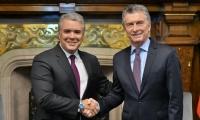 Presidentes de Colombia,Iván Duque y Argentina, Mauricio Macri