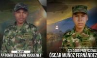 Antonio Beltrán Roquenet murió luego del atentado en Arauca; Óscar Muñoz murió en Morales, Cauca.