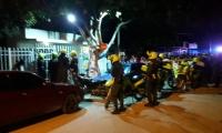 Sector en el que ocurrió el homicidio de un hombre en la noche de este lunes.