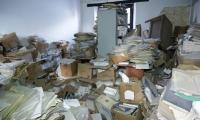 Así se ven los archivos de algunas dependencias de la Alcaldía.