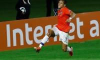La celebración de Alexis Sánchez.