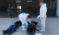 Los cadáveres fueron trasladados en helicóptero a la base de la Policía Antinarcóticos.