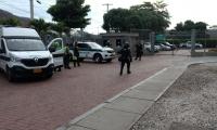 La Policía se encuentra en la sede de la Essmar ante una eventual protesta.