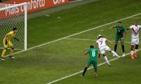 Machís anotó el primer tanto de Venezuela de cabeza.