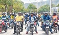 Los mototaxistas se movilizaron para exigir que no les apliquen más restricciones.