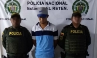 Joven capturado en El Retén.