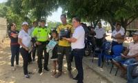 La actividad contó con el acompañamiento de Rafael Enrique Castañeda, director del Tránsito Departamental.