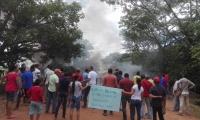 Protestas en Guamal por Electricaribe.