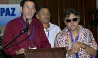 'Pastor Alape' y 'Jesús Santrich', durante el Proceso de Paz.