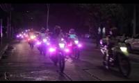 Escuadrón motorizado nocturno recorre las calles de Santa Marta