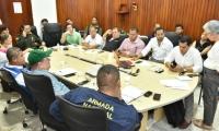 Reunión donde se acordó el plan de contingencia de la Fiesta del Mar.