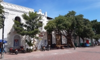 Así luce este miércoles la plaza de la Catedral.