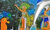 Desfile en la Fiesta Nacional del Mar.