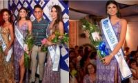 Mariana Villalobos, Miss Magdalena Virtual 2019; Camila Monsalve, Virreina; Ornella Rodgers, Princesa y Felipe Cermeño, organizador del concurso.
