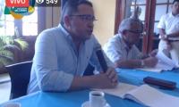 Rafael Martínez, durante el consejo de Gobierno.