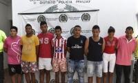 Los capturados fueron dejados a disposición de la Fiscalía 28 Seccional de Pivijay.