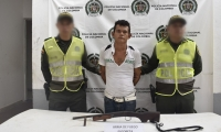 El capturado fue identificado como Cristian David Mercado Cabrera 20 años de edad.
