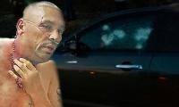 'Baltazar' no sobrevivió a las heridas que le causaron la decena de balas que impactaron el vehículo.