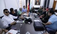 Consejo de seguridad en la Alcaldía.