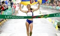 Sandra Arenas, ganadora de oro en los Juegos Panamericanos 2019.