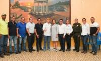 Las directivas del Unión Magdalena se reunieron con el Alcalde (e) de Ciénaga.